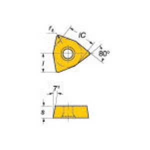 【あす楽対応】SV [WCMX 06 T3 08 R-51 235] U-ドリル用チップCOAT (10個入) WCMX06T308R51235