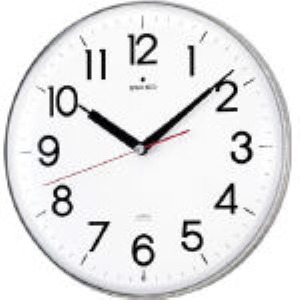 SEIKO KX301H 正規取扱店 アクリルカバー電波掛時計 直径294×47 白 あす楽対応 直送 327-6911 KX-301H 信託