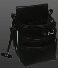 ニックス(KNICKS) [KB-301DD-SP] 3段総グローブ 皮使用仕上腰袋【黒】 KB301DDSP