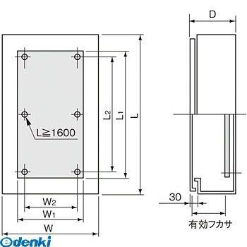 パナソニック Panasonic BPB4615V 盤用キャビネット屋外形 屋根無・木板付