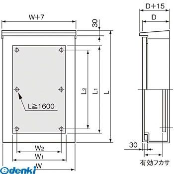 パナソニック Panasonic BPC3615V 盤用キャビネット屋外形 屋根付・木板付