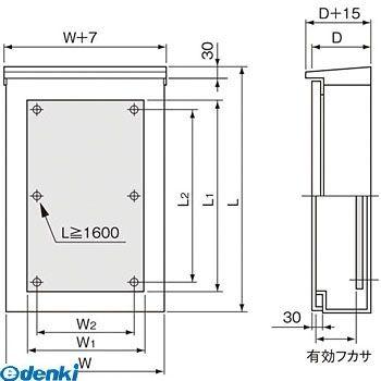 パナソニック Panasonic BPS6615V 盤用キャビネット屋外形 SUS 屋根付