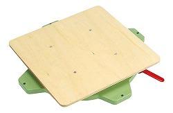 【個人宅配送不可】サカエ(SAKAE) [PS-40T] 「直送」【代引不可・他メーカー同梱不可】「車上渡し」 クルクル回転盤 樹脂製 合板天板 PS40T