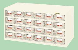 【個人宅配送不可】サカエ SAKAE HFW-24TL 直送 代引不可・他メーカー同梱不可 車上渡し ハニーケース 樹脂ボックス HFW24TL