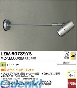 大光電機(DAIKO) [LZW-60789YS] LED屋外スポットライト LZW60789YS【送料無料】