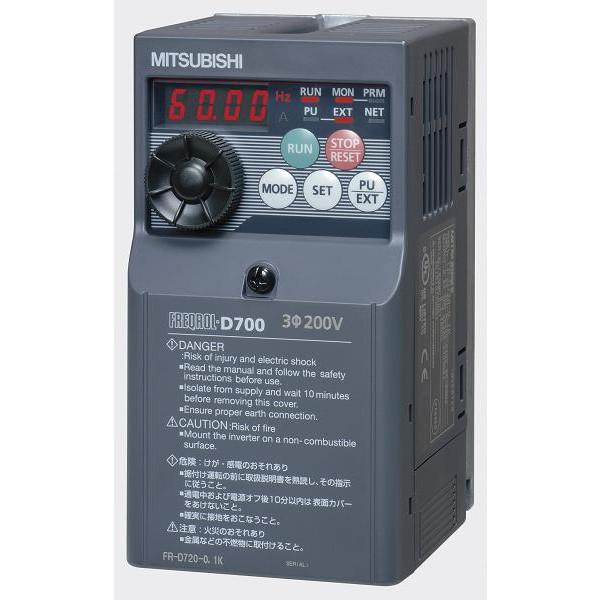 三菱電機(MITSUBISHI) [FR-D720-1.5K] 小形インバータ FREQROL-D700シリーズ FRD7201.5K