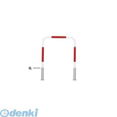 【個人宅配送不可】【個数:1個】帝金 Teikin 80-C R&W 直送 代引不可・他メーカー同梱不可 スチール製バリカー 横型・コノ字型・アーチ型・U字型車止めポール スタンダードタイプ φ42.7xt2.3 W700 H650 mm 赤白色 80CR&W