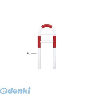 【個人宅配送不可】帝金 Teikin HG83A-04 R&W 直送 代引不可・他メーカー同梱不可 スチール製バリカー 横型・コノ字型・アーチ型・U字型車止めポール スタンダードタイプ φ76.3xt3.2 W420 H750 mm 赤白色 HG83A04R&W【送料無料】