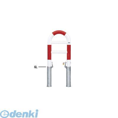 【個人宅配送不可】帝金 Teikin HG83PK-04 R&W 直送 代引不可・他メーカー同梱不可 スチール製バリカー 横型・コノ字型・アーチ型・U字型車止めポール スタンダードタイプ φ76.3xt3.2 W420 H750 mm 赤白色 HG83PK04R&W【送料無料】