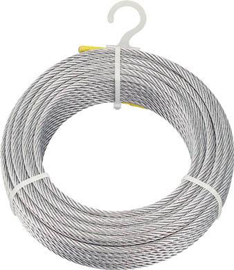 【あす楽対応】トラスコ中山(TRUSCO) [CWM8S100] メッキ付ワイヤロープ Φ8mmX100m