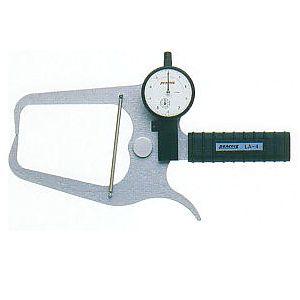 尾崎製作所 PEACOCK LA-4 ダイヤルキャリパーゲージ LA 外測 タイプ 外径・厚さ測定用 ピーコック PK129032 LA4
