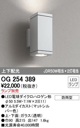 オーデリック ODELIC OG254389 LEDポーチライト ランプ別売【送料無料】