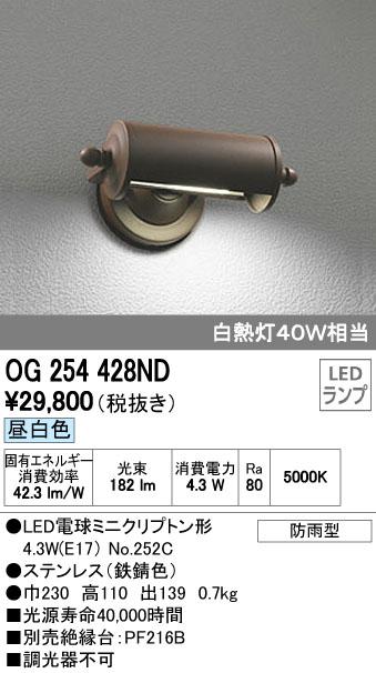 オーデリック ODELIC OG254428ND LEDポーチライト【送料無料】