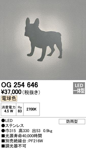 オーデリック ODELIC OG254646 LEDポーチライト【送料無料】