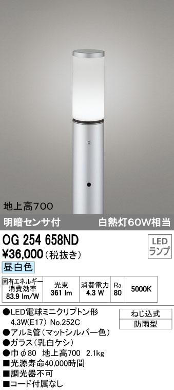 オーデリック ODELIC OG254658ND LEDポールライト【送料無料】