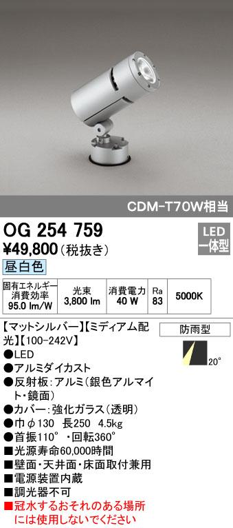 オーデリック(ODELIC) [OG254759] LEDスポットライト【送料無料】