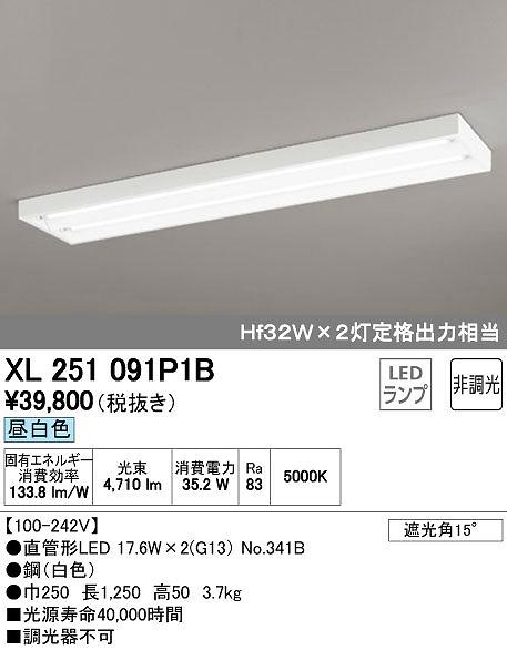 オーデリック ODELIC XL251091P1B LEDベースライト【送料無料】