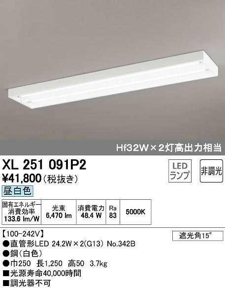オーデリック ODELIC XL251091P2 LEDベースライト【送料無料】