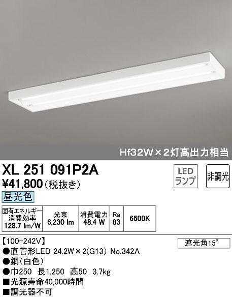オーデリック ODELIC XL251091P2A LEDベースライト【送料無料】