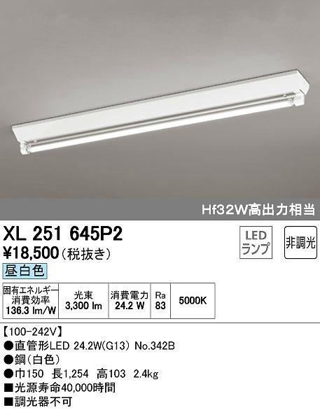 オーデリック ODELIC XL251645P2 LEDベースライト【送料無料】