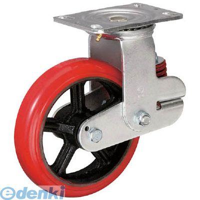 イノアック KTU150WJRS バネ付き牽引車輪 ウレタン車輪タイプ 自在金具付 Φ150 【送料無料】