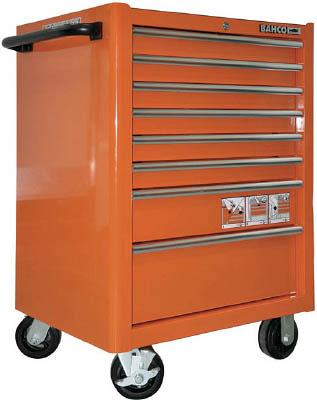 【海外手配品 納期-約2ヶ月】バーコ K1475K8PSP 直送 代引不可・他メーカー同梱不可 8段引き出し ロールキャブ バーコオレンジ ゴムマット仕様天板