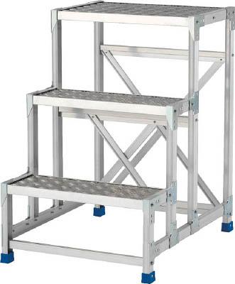 アルインコ CSBC4128S 直送 代引不可・他メーカー同梱不可 作業台 天板縞板タイプ 4段