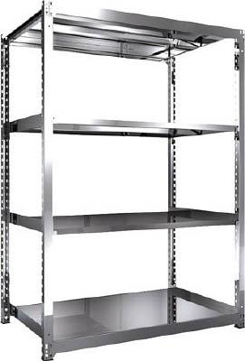 【ご予約品】 SM37594 直送 SM3型SUS棚 1500X921XH2100 4段 単体:測定器・工具のイーデンキ TRUSCO ・他メーカー同梱 トラスコ中山-その他