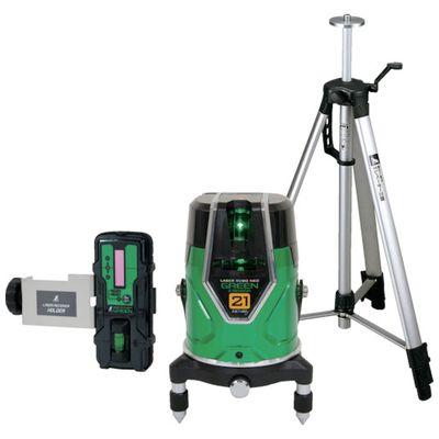 人気アイテム 71612 シンワ レーザーロボ_グリーン_NeoESensor21_受光器・三脚セット:測定器・工具のイーデンキ-DIY・工具