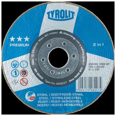 【あす楽対応】TYROLIT[908229] 【25個入】 研削砥石 ロンデラー 125mm #60