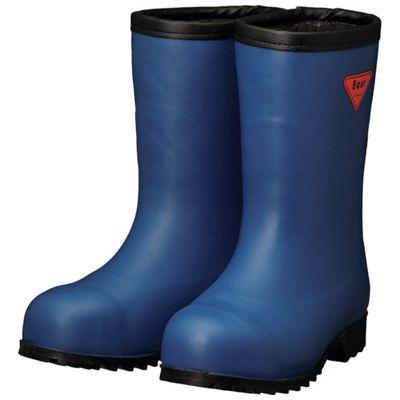 SHIBATA AC061-25.0 防寒安全長靴セーフティベアー#1011白熊 ネイビー フード無しAC06125.0