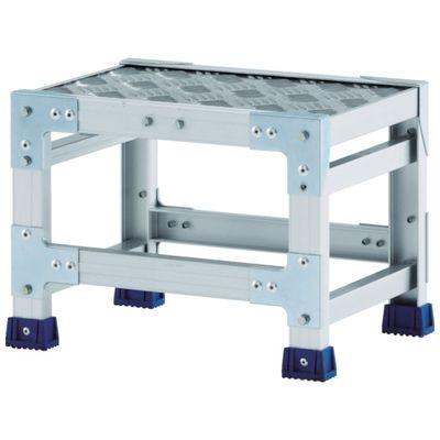 【個数:1個】アルインコ CSBC135S 作業台 天板縞板タイプ 1段