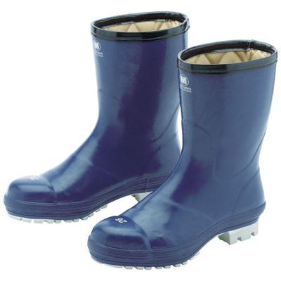 ミドリ安全 FBH01-NV-28.0 氷上で滑りにくい防寒安全長靴 FBH01 ネイビー 28.0cmFBH01NV28.0