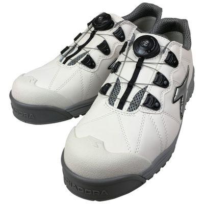 【あす楽対応】ディアドラ[FC181-275] DIADORA安全作業靴 フィンチ 白/銀/白 27.5cmFC181275