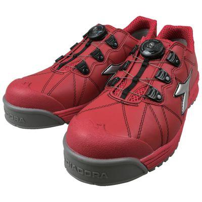 【あす楽対応】ディアドラ[FC383-245] DIADORA安全作業靴 フィンチ 赤/銀/赤 24.5cmFC383245