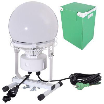 【あす楽対応】【個数:1個】日動[L100W-AB-50K-PBOX] 連結LED投光器 ディスクボール100W 収納ケース付L100WAB50KPBOX