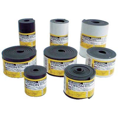 【あす楽対応】イノアック L24-5500-15M マイクロセルウレタンPORON 黒5×500×15M巻 テープ無 L24550015M