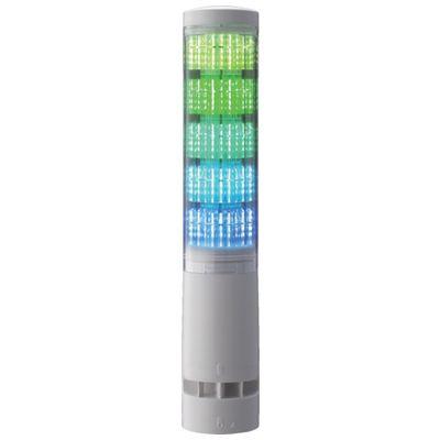 【あす楽対応】パトライト[LA6-5DLJWB-RYGBC] LA6型積層情報表示灯Φ60 L型ポール・キャブタイヤ・ブザーありLA65DLJWBRYGBC