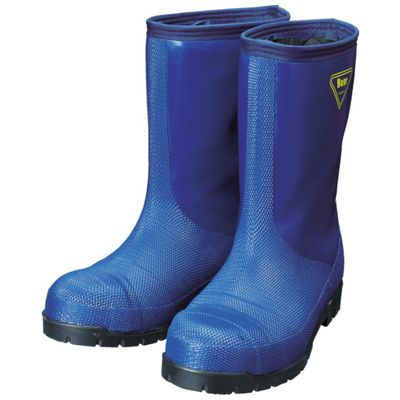 低廉 オンラインショッピング 3月1日最大400円OFFクーポン+エントリーで最大ポイント4倍 SHIBATA NR021-25.0 冷蔵庫用長靴-40℃ 25.0 NR021 ネイビーNR02125.0