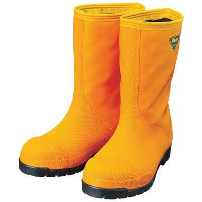 SHIBATA NR031-28.0 冷蔵庫用長靴-40℃ NR031 28.0 オレンジNR03128.0