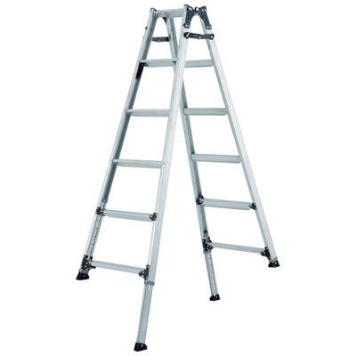 【個数:1個】アルインコ PRT120FX 伸縮脚付きはしご兼用脚立 踏ざん幅60mm・各脚441mm伸縮