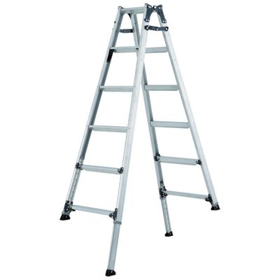 【個数:1個】アルインコ PRT180FX 伸縮脚付きはしご兼用脚立 踏ざん幅60mm・各脚441mm伸縮