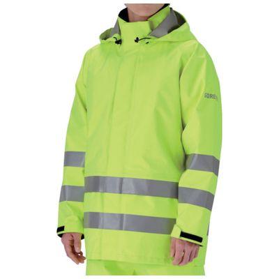 【個数:1個】ミドリ安全 RAINVERDE-N-UE-Y-M 雨衣 レインベルデN 高視認仕様 上衣 蛍光イエロー MRAINVERDENUEYM