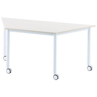 【個数:1個】アールエフヤマカワ RFCTT-WL8016DWH キャスターテーブル 台形 ホワイトRFCTTWL8016DWH