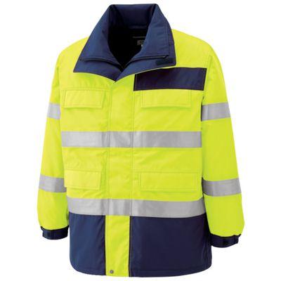 【個数:1個】ミドリ安全 SE1124-UE-4L 高視認性 防水帯電防止防寒コート イエロー 4LSE1124UE4L