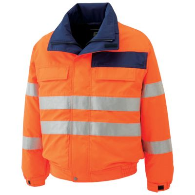 【個数:1個】ミドリ安全 SE1135-UE-LL 高視認性 防水帯電防止防寒ブルゾン オレンジ LLSE1135UELL