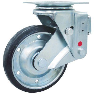 ユーエイ SKY-1S200WF-AR-AS スカイキャスター自在車 200径鋼板ホイル耐摩耗ゴムB入り車輪SKY1S200WFARAS