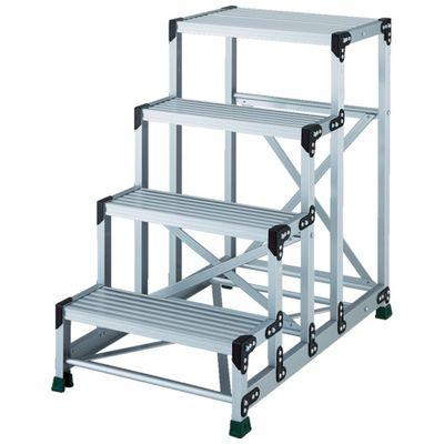 【個数:1個】TRUSCO TSF-4610 アルミ合金製作業台 4段 高さ1.00m 天板600×400TSF4610
