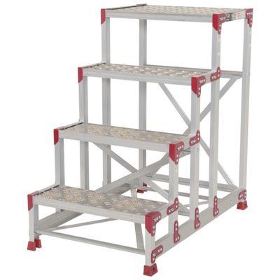 【個数:1個】ピカ ZG-4610P 作業台 ZG-P型縞板仕様 4段 幅60cm高さ100cmZG4610P