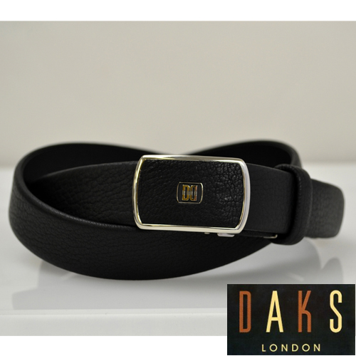 【あす楽対応】DAKS ダックス メンズ ブラックレザー(ディアスキン)ベルト 鹿革 袋縫い仕立てDB34515 3-98ベルト